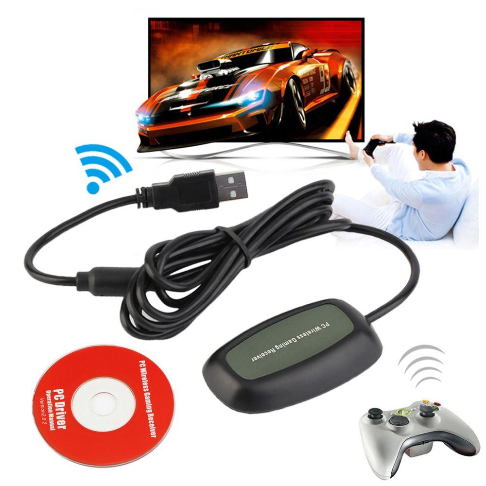 Беспроводной PC USB 2.0, приемник для Xbox 360 контроллер Gaming Приёмник USB ПК приемник для Microsoft для Xbox 360 с CD