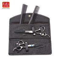 KIKI. Hair scissors.6.0 pulgadas. tijeras de peluquero Profesional con la bolsa de cuero. HRC68.4CR acero inoxidable. Right-handed.Styling Herramientas