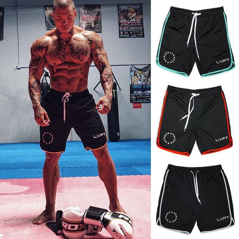 Summer Men Run jogging sports Shorts Brand Breathable Mesh surface Sweatpants Male Fitness bodybuilding Plus Size Short Trousers