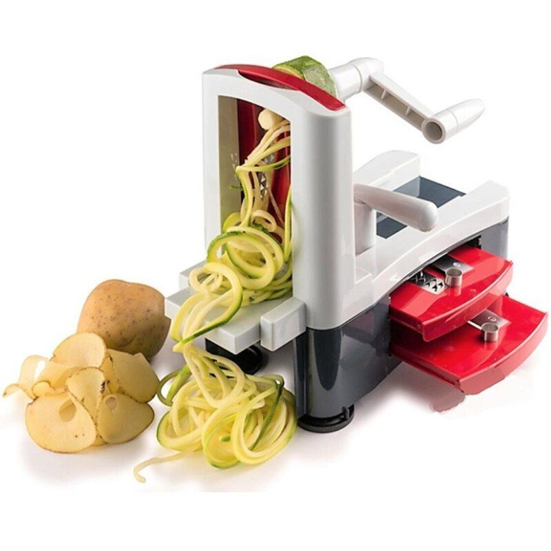 Spiralizer 3-Blade Vegetable Slicer Strongest and Heaviest Duty Kitchen Gadgets Tool For Home & Kitchen multifunction G