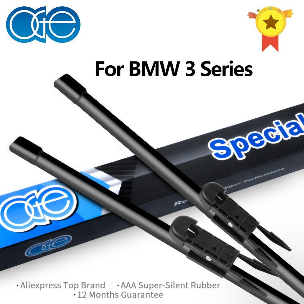 Oge Front And Rear Wiper Blades For BMW 3 Series E36 E46 E90 E91 E92 E93 F30 F31 F34 1993-2017 Car Windscreen Rubber