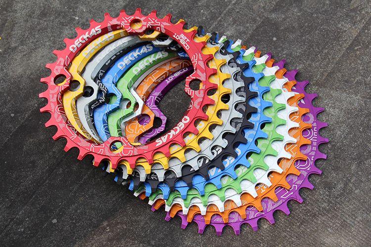DECKAS rond forme étroite large 32 T/34 T/36 T 104BCD vtt plateau 7075-T6 vélo roue vélo cercle pédalier simple plaque