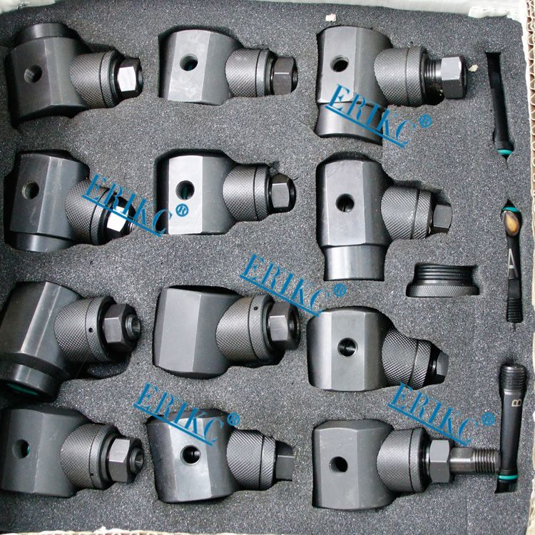 ERIKC common rail injector clamping tool to hold injector on test bench Totally,12 pieces