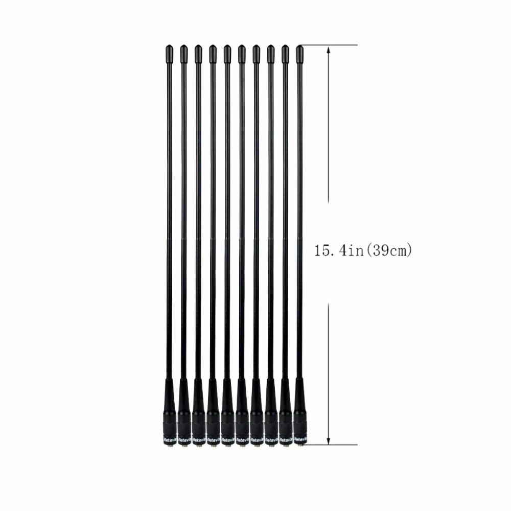 10pcs Retevis RHD-771 SMA-F Antenna UHF/VHF 144/430 MHz Antenna For Kenwood Baofeng UV-5R Retevis H777 RT5 Walkie Talkie C9030A