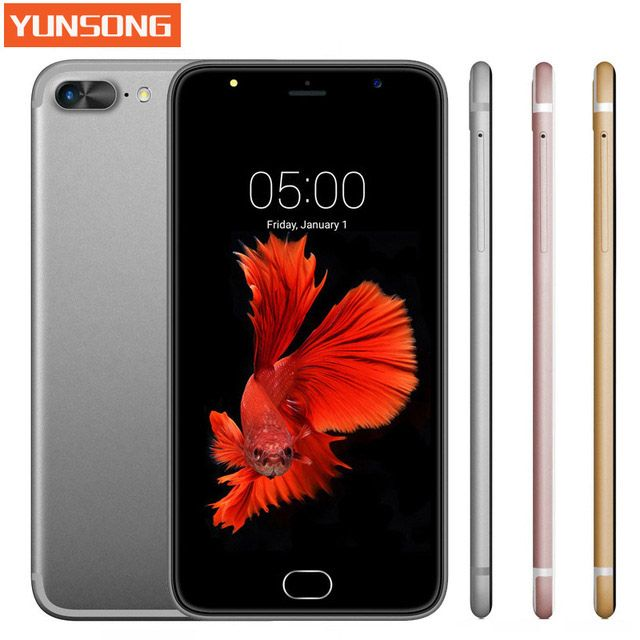 YUNSONG A7 Plus Mobile Phone 5.5 inch 13.0MP camera Smartphone MTK6580 Quad Core telephone Android 5.1 Cell Phone GSM/WCDMA 3G