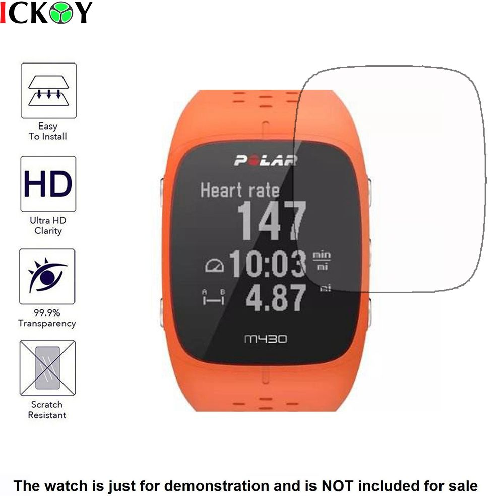3x Clear LCD Screen Protector Guard Cover Shield Film Skin for Polar M430 Sports Smart  Watch Accessories
