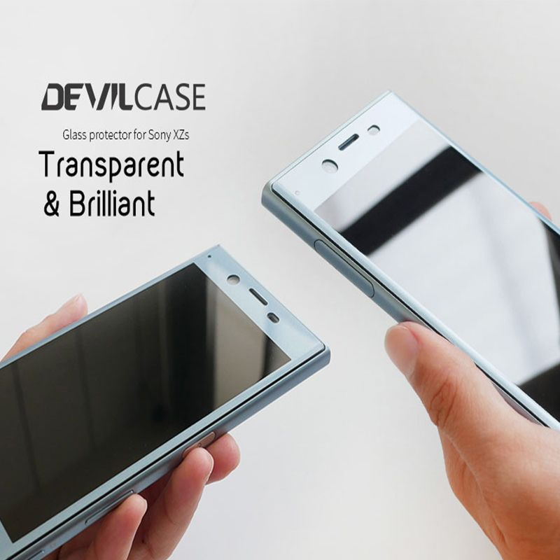 DEVILCASE OCA Craft Curved Glass Protector For SONY XPERIA XZ & XZs 5.2inch Screen Protector Anti-Reflective HD Tempered Glass