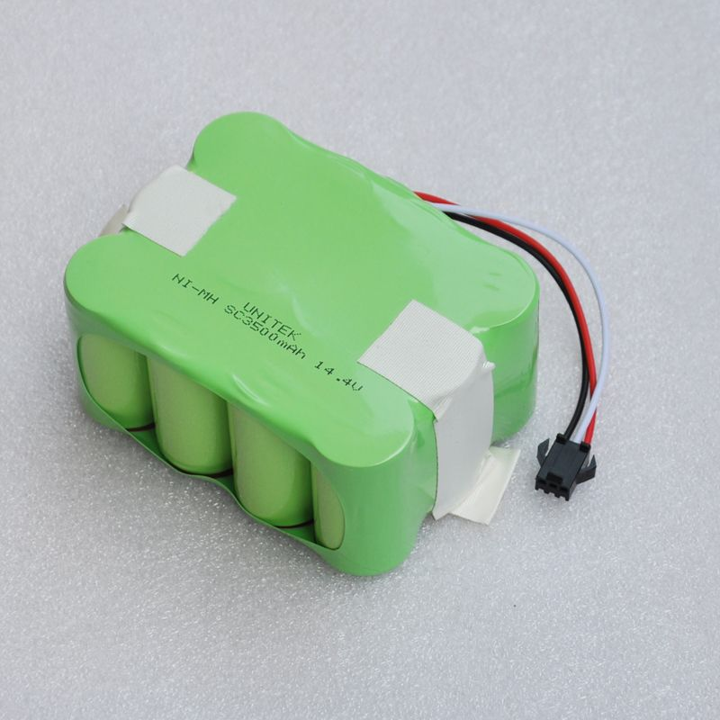 14.4V rechargeable battery pack SC Ni-MH <font><b>3500mAh</b></font> Vacuum Sweeping Cleaner Robot for KV8 XR210 XR510 XR210A XR210B XR210C XR510A