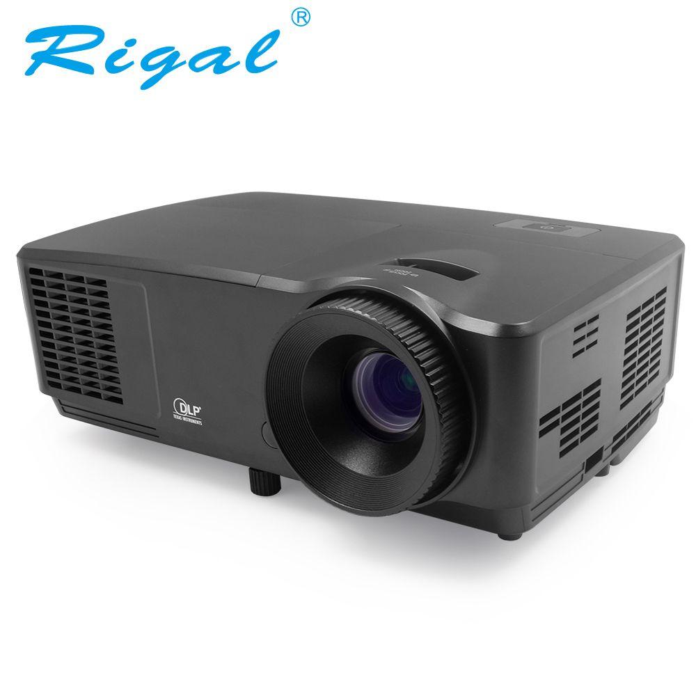 Rigal RD809 HD DLP Projektor 5500 Lumen Aktive Shutter 3D Beamer Home Cinema Theater Treffen Business HDMI VGA Video Proyector