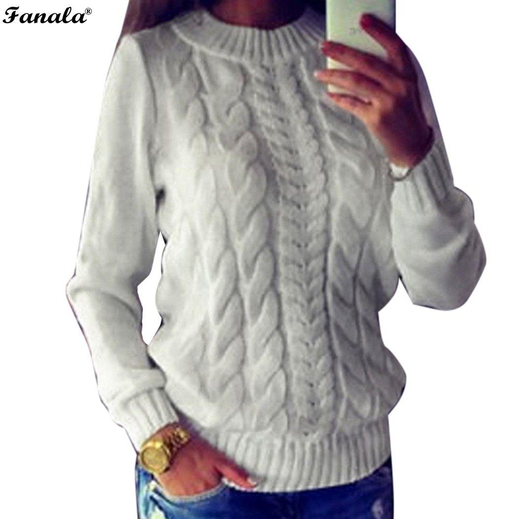 Otoño Suéter de Las Mujeres Tops 2017 Moda Pullover Suéteres de Manga Larga Del O-cuello Suéteres del Poncho Flojo de Punto Sólido de Las Mujeres Ocasionales