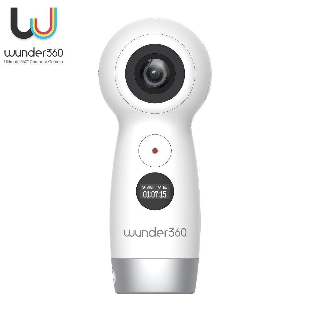 Wunder360 3D VR Fisheye Wifi Wireless IP Cameras Full HD video Dual-lens 4K 360 Degree Camera VR 4K Wifi Video Panoramic Camera