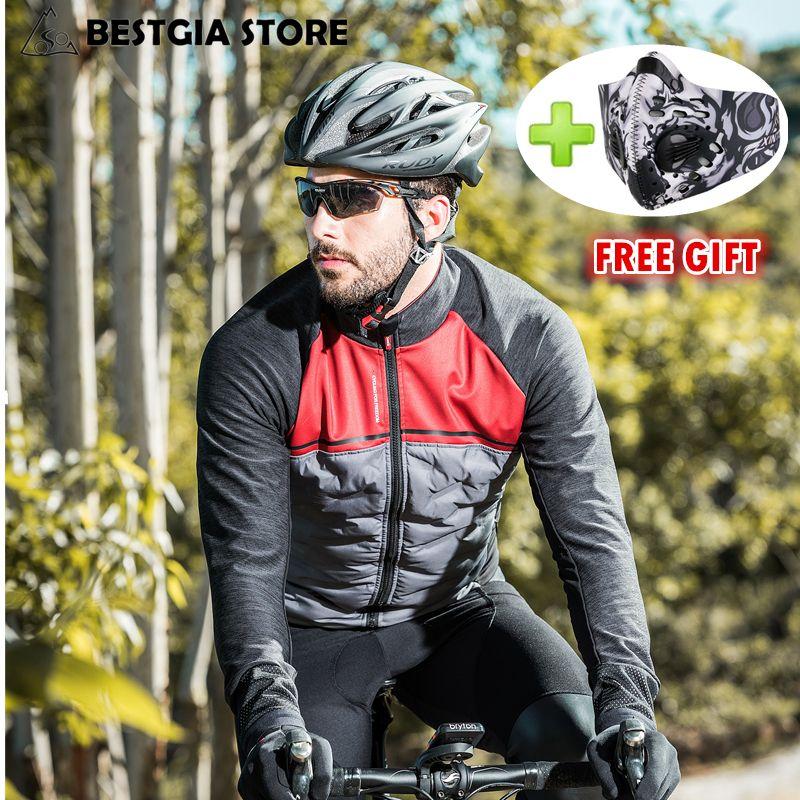 Santic 2018 Neue Winter Radfahren Jacke Winddicht Thermische Fleece Bike Jacke Mantel Männer Tour de France Ultraleicht Unten Baumwolle Jacke