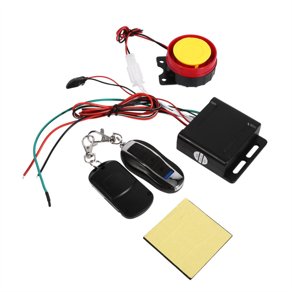 Moto Motorcycle Bike Anti-theft Safety Security Alarm System Remote Control 12V Scooter Set Kit Universal Motocicleta