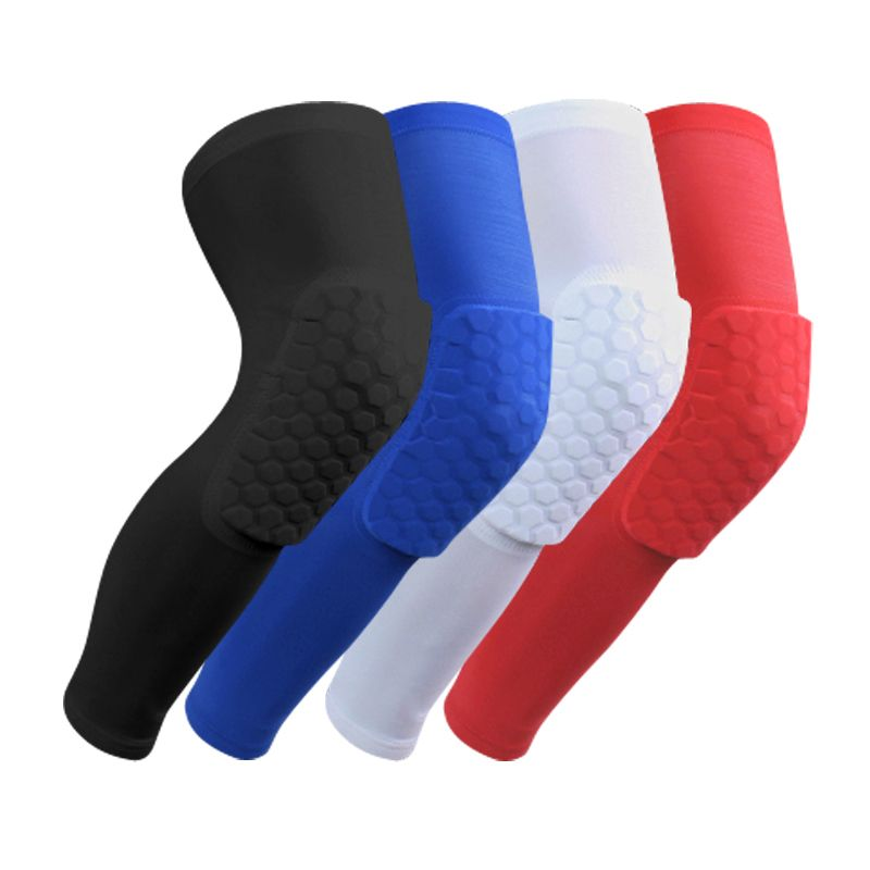 1 pair Breathable Basketball <font><b>Shooting</b></font> Sport Safety Kneepad Honeycomb Pad Bumper Brace Kneelet Protective Knee pads rodilleras