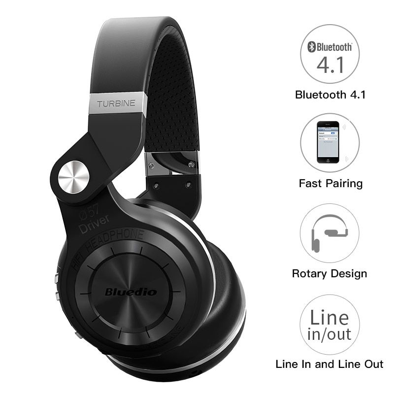 Bluedio T2S оригинальный Bluetooth наушники микрофон стерео Беспроводная гарнитура Bluetooth 4.1 для iPhone Samsung Xiaomi HTC