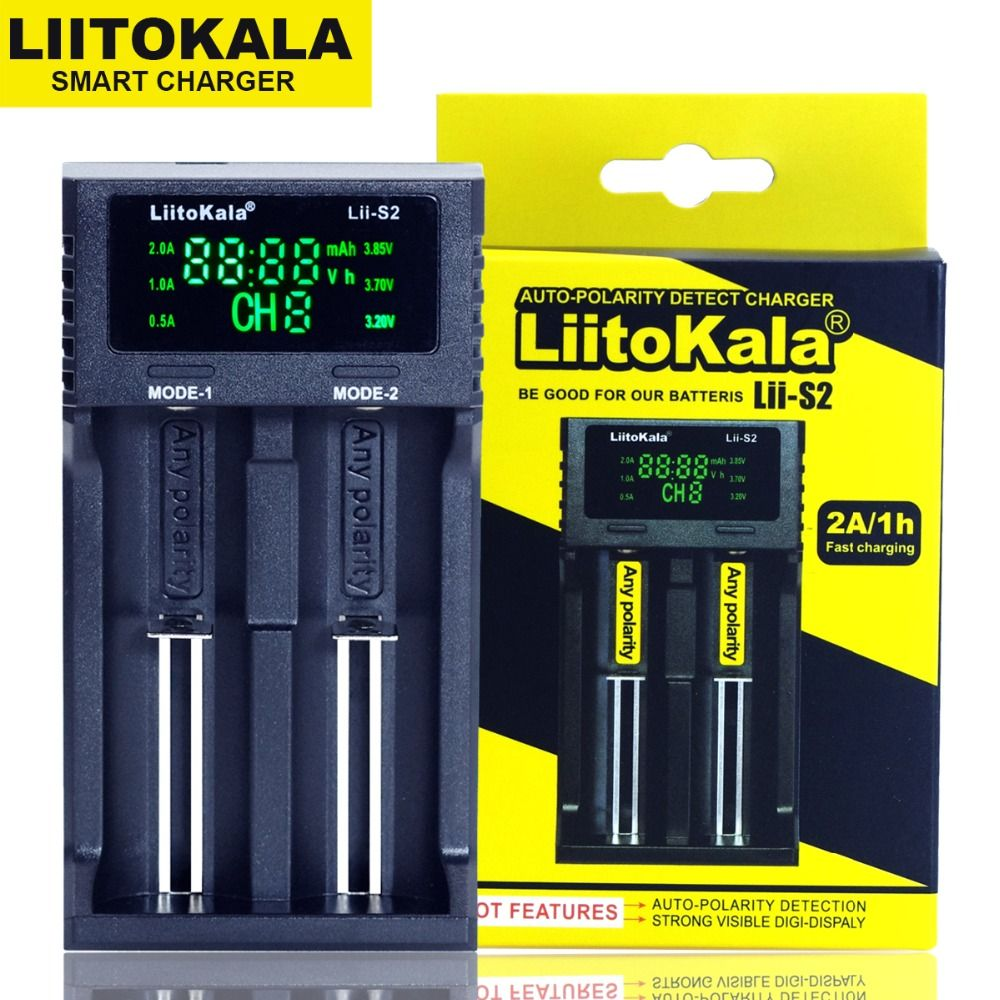 Liitokala Lii-S1 Lii-100 Lii-202 Lii-402 18650 chargeur 1.2 V 3.7 V AA/AAA 26650 14500 16340Lithium-ion Ni-MH Batterie Chargeur Intelligent