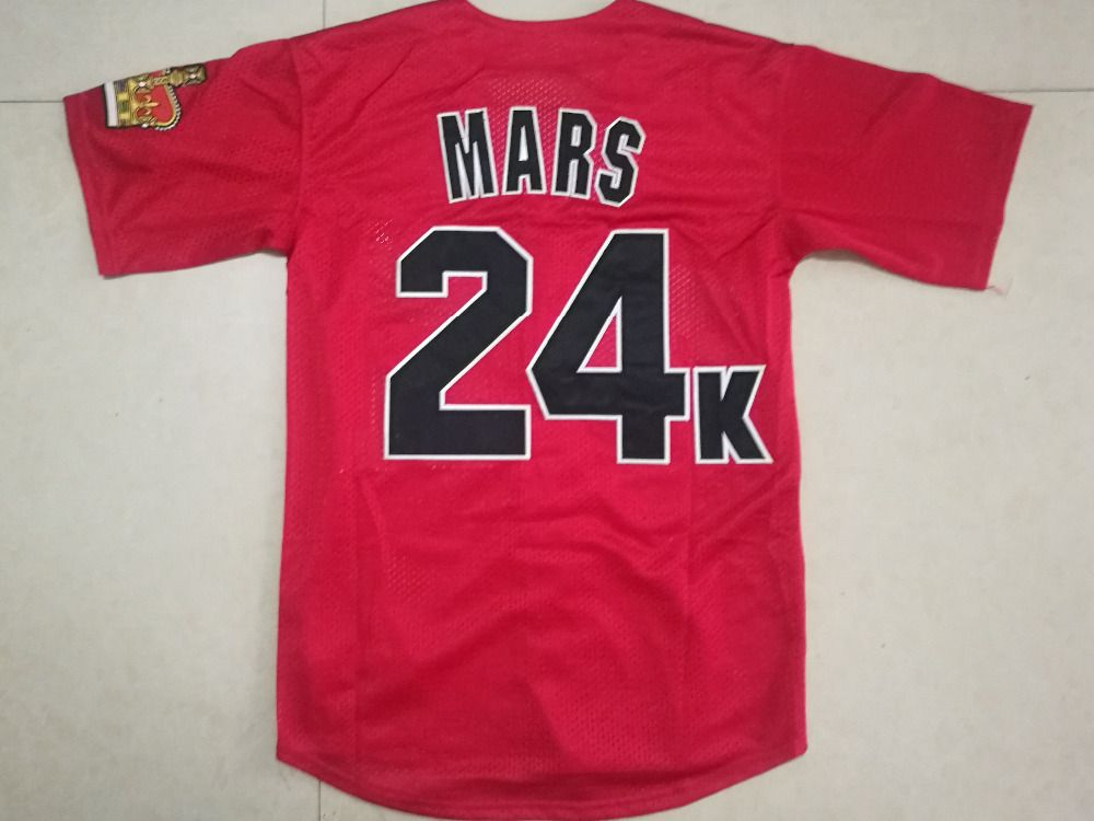 Bruno Mars 24K Hooligans Baseball Jersey All Stitched Bruno Mars Shirt More Color Fast Shipping