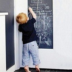 Grande desprendible pizarra pegatina de pared regalo para niños Pizarras + 5 tizas