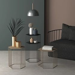 Nordic creative hexagonal flower living room balcony plant pots fall subway art receptacle