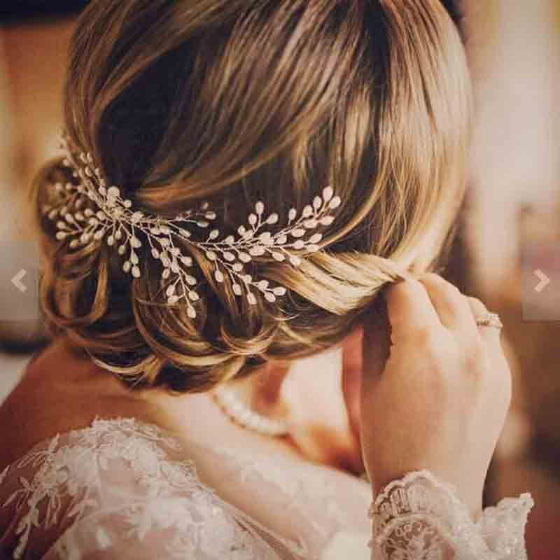 2017 New Luxurious Bride Hair Accessories 100% Handmade Pearl Wedding Hair Jewelry Party Pom Bridal Starry Hair Comb Pearl Tiara