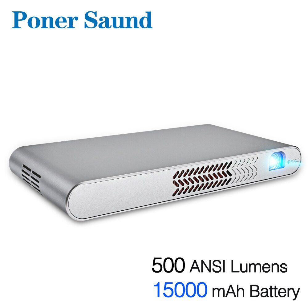 Poner Saund DLP-N1 Mini Tragbare Projektor Batterie 15000 MAh Android WIFI Volle 3D Bluetooth Home Theater HD 1080 P HDMI USB SD