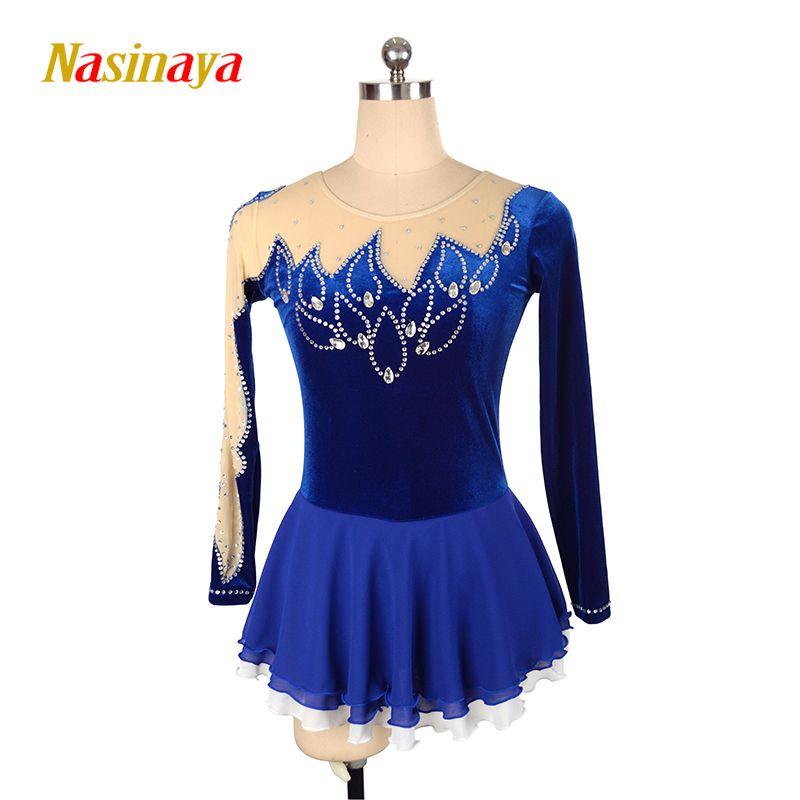 Nasinaya Eiskunstlauf Kleid Customized Wettbewerb Eislaufen Rock für Mädchen Frauen Kinder Patinaje Gymnastik Leistung 78