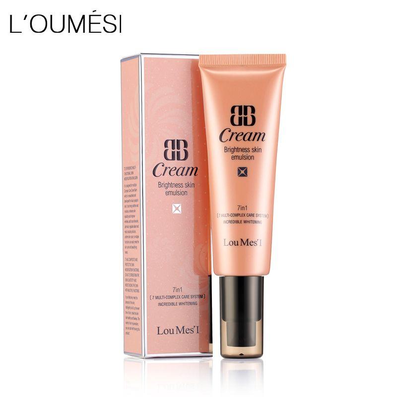 Loumesi bb cc crème soins du visage fondation 7 dans une base maquillage Parfait Couverture Du Visage Blanchissant et Anti-cernes et Hydratant