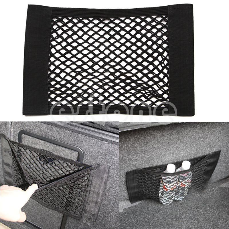 1PC Car Back Rear Trunk Seat Elastic String Net Mesh Storage Bag Pocket Cage Drop shipping