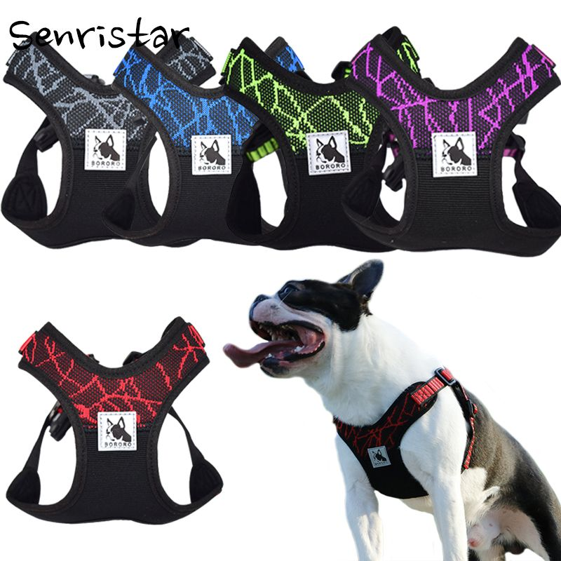 No pull Sport Reflective Dog Harness For Small Medium Large Dog Safety Adjustable Training Pet Pitbull Dog Chest Vest Harnesses