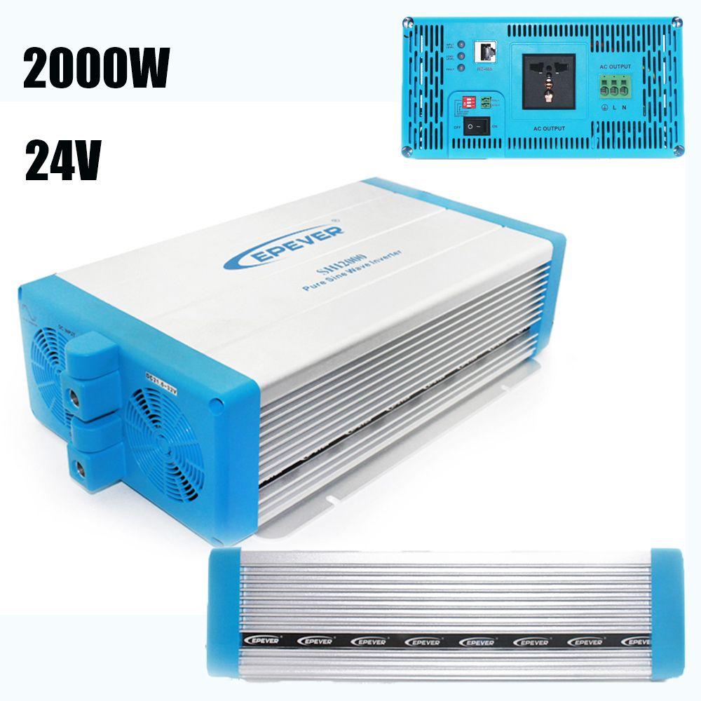 EPever SHI Series Pure Sine Wave Power Inverter 24V 220V 2000w High Frequency Grid Tie Inverter LED Indicators SHI2000-22