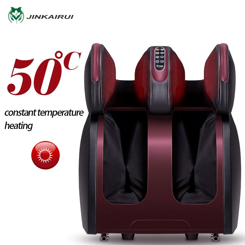 JinKaiRui Electric Vibrating Foot Massager Infrared Heating Knee Leg Calf Thigh Massage Device Air Pressure Massagem Pain Relief
