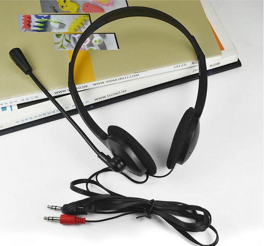 Heißer verkauf Gaming 3,5mm Headset Kopfhörer mit Mikrofon Für PC Computer Spiel Stereo Kopfhörer PC kopfhörer schwarz