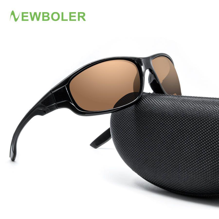NEWBOLER 2018 Fishing Eyewear Polarized Yellow Brown Lenses Men Women Fishing Glasses driving Night Sport Sunglasses UV400