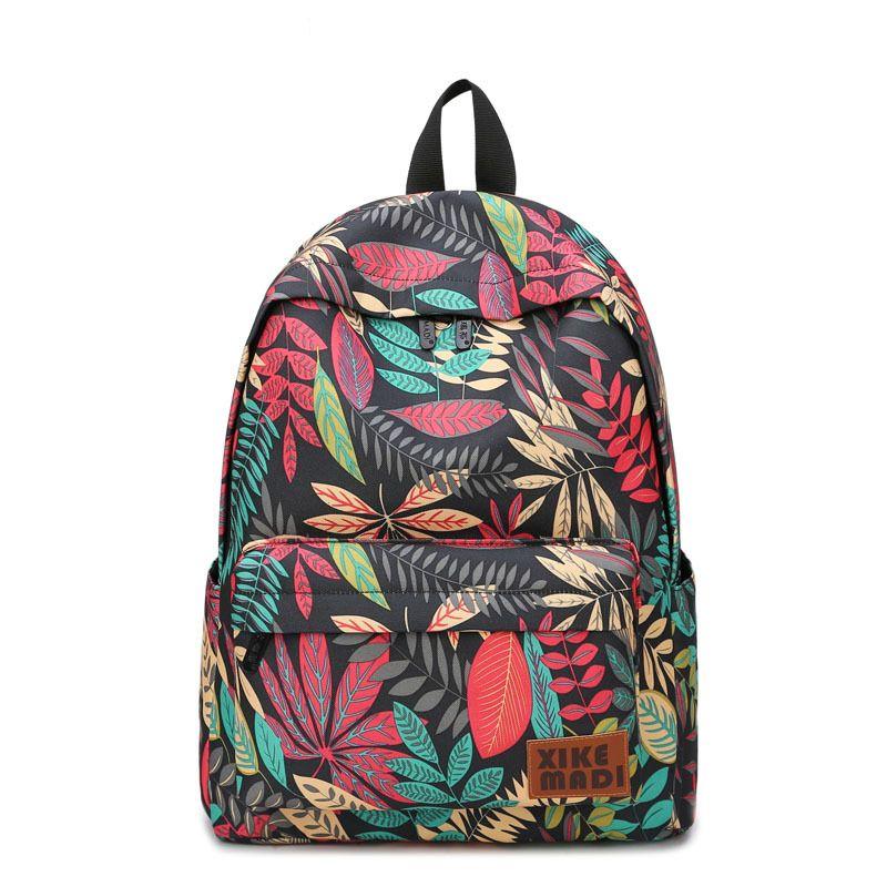 Бренд Для женщин Рюкзаки для подростков Обувь для девочек с цветочным принтом Школьные ранцы отдыха и путешествий ноутбук рюкзак женский х...