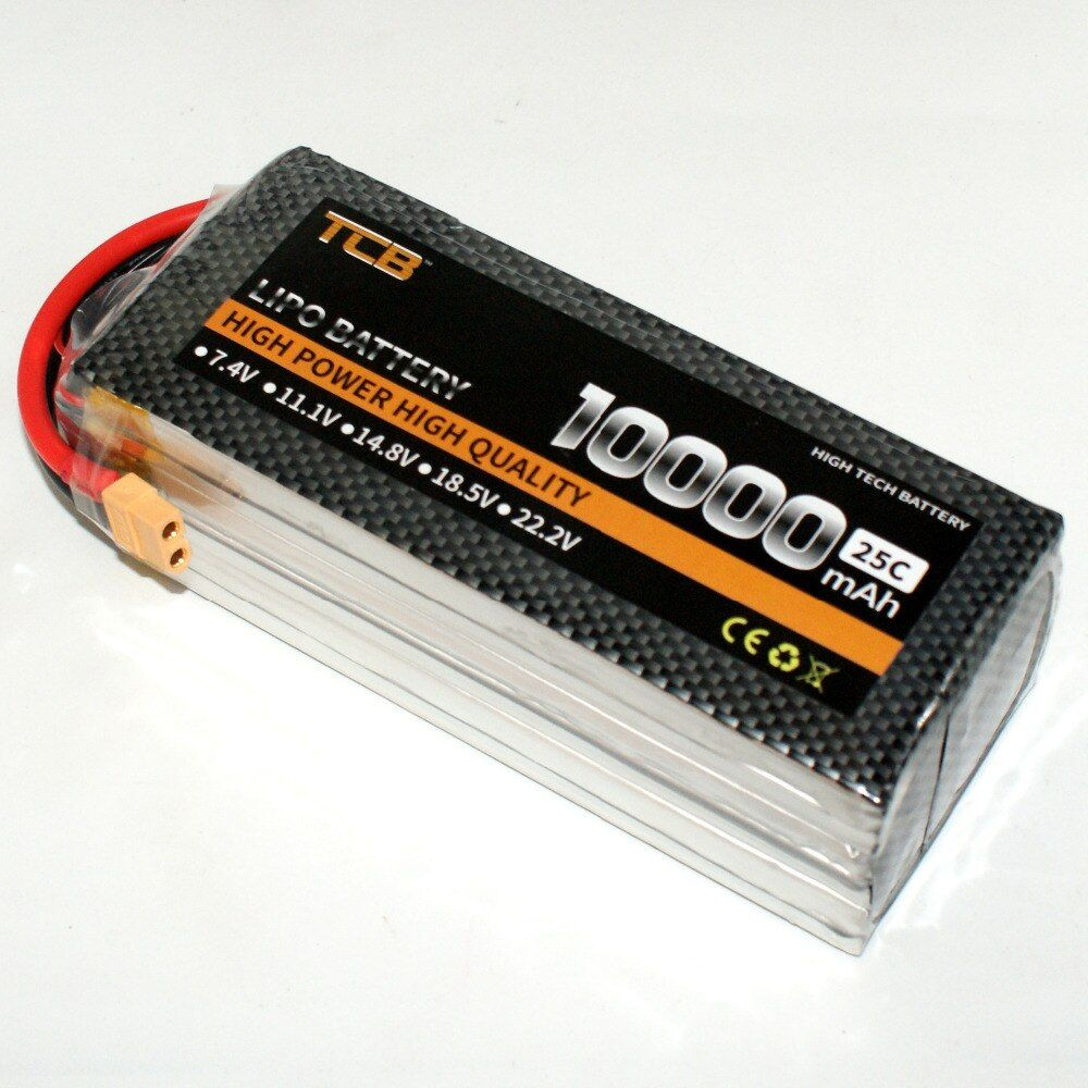 TCB RC LiPo Batterie 4 S 14,8 V 10000 mAh 25c für RC Flugzeug Hubschrauber Drone Auto Boot 4 s Batteria Kostenloser Versand