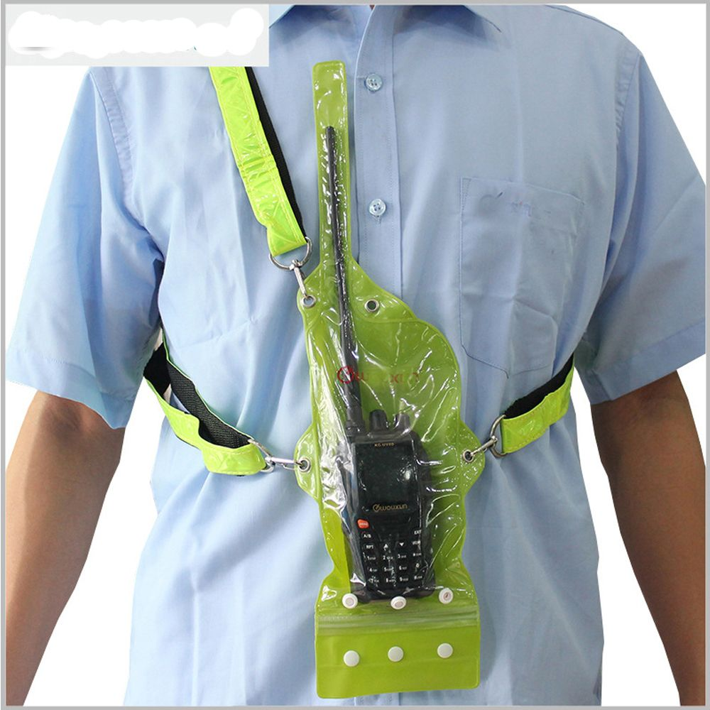 D'origine wouxun talkie walkie étanche sac cas pour deux façon radio kg-uv8d kg-uv9d pour baofeng kenwood talkie walkie