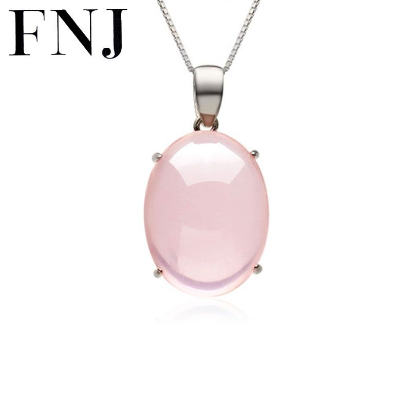 FNJ Natural Stone 100% Pure 925 Sterling Silver Pendants for Women S925 Solid Silver Pendant Necklace LP21