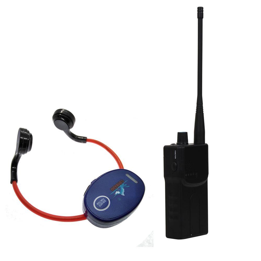 Knochen Leitung Schwimmen Lehre Gadget für Schwimmen Club mit 1 Walkie Talkie + 10 Wasserdichte Kopfhörer Empfänger + 1 Mikrofon
