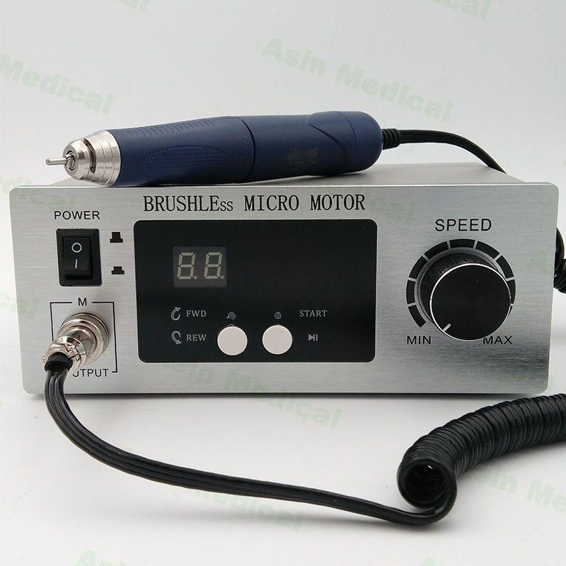 Free shipping Dental Micromotor Polishing Unit 70,000 RPM Brushless Aluminium Shell with lab handpiece dental micro motor