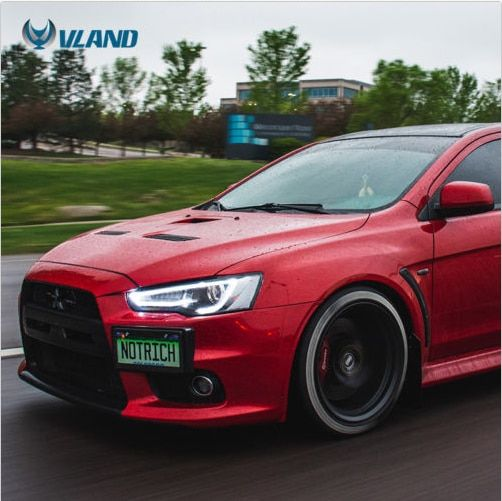 VLAND factory for Car head lamp for Lancer LED Headlight 2008-UP for Lancer Head light with xenon HID projector lens and DRL