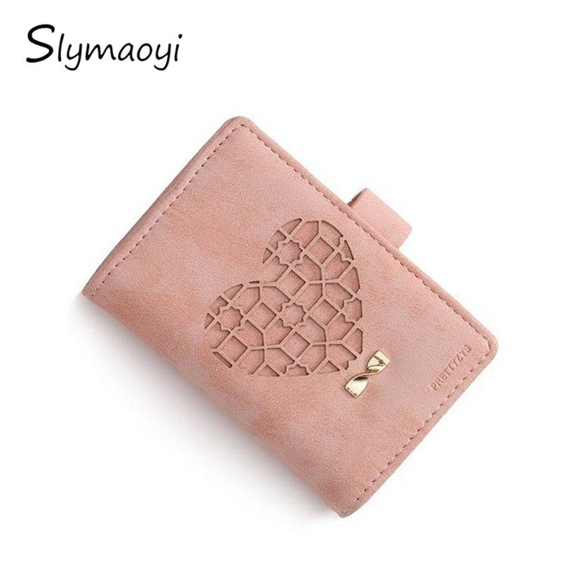 20 Card Slots Matte Pu Leather Women Card Holders Fashion Heart-shaped Hollow Credit Card Wallet Brand Lady Business Card Holder