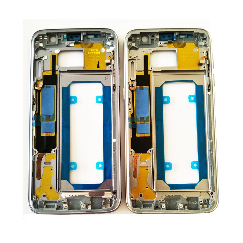 New Original Middle Frame Bezel Metal Housing Chassis with Side Button Replacement Parts For Samsung Galaxy S7 Edge G935 G935F