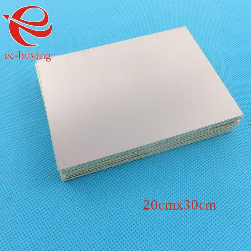 10 teile/los Kupferkaschierte Laminat Einseitig Platte CCL Bakelite Universalplatine Praxis PCB DIY Kit 200*300*1,4mm