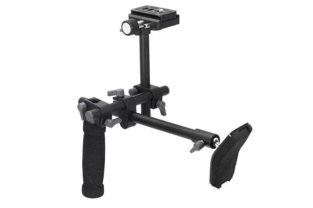 DSLR Handle Shoulder Support Rig shoulder support <font><b>stabilizer</b></font> rig quick release plate for A7 R A7II Digital video Camera DVD