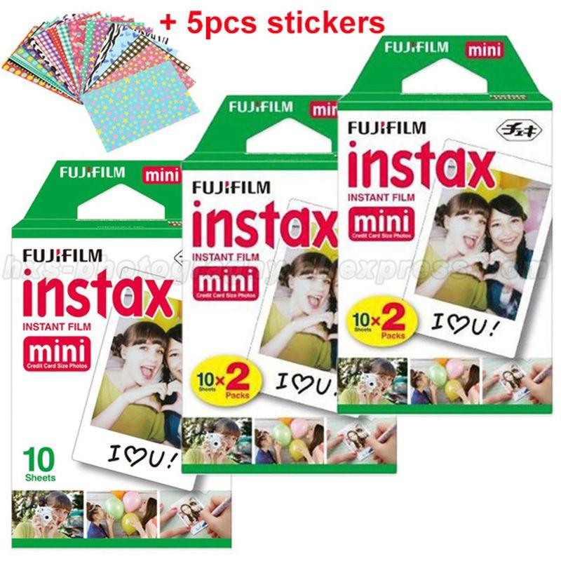 Genuine 50 Sheets White Fuji Instax Film Fujifilm Instax Mini 8 Film For 9 8 50s 7s 90 25 Share SP-1 SP-2 Instant Cameras