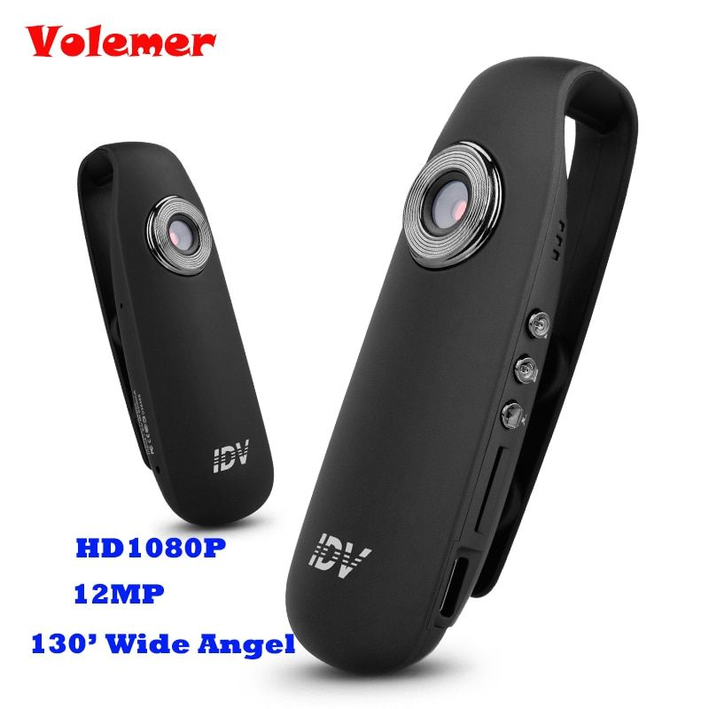 Volemer Mini Camera DV Loop Video Voice Recorder HD <font><b>1080P</b></font> 12MP 130 Wide Angle Motion Detector Mini Camcorders IDV 007 PK SQ11
