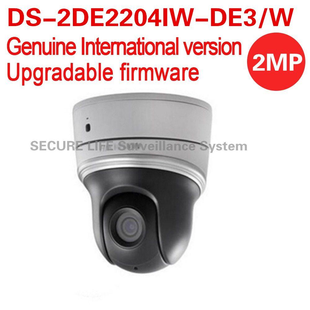 Free shipping English version DS-2DE2204IW-DE3/W 2MP mini WIFI PTZ CCTV camera 2.8-12mm with 30m IR, 4X optical zoom