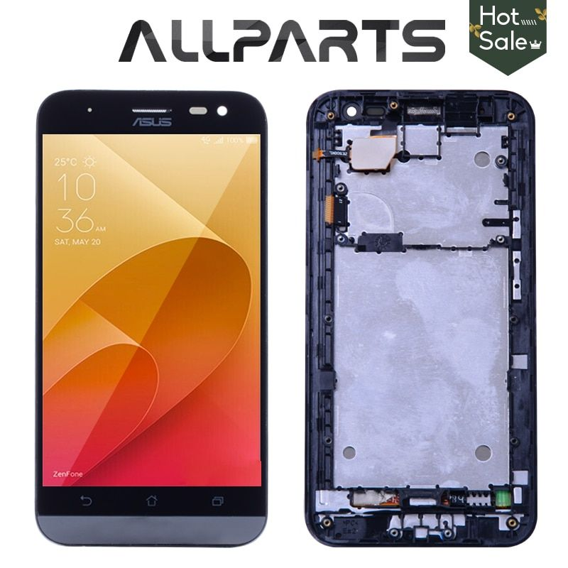 Original 5.0 HD IPS LCD Replacement For ASUS ZE500KG LCD Display Zenfone 2 Laser ZE500KL Touch Screen Digitizer with Frame