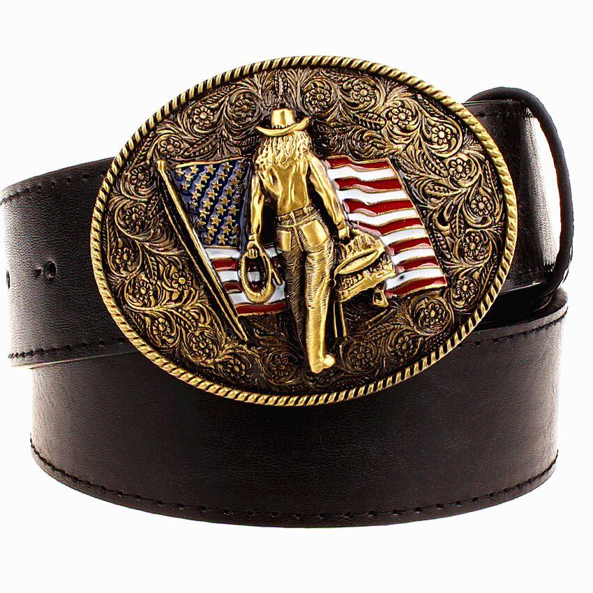 Sauvage Personnalité Hommes de ceinture boucle en métal couleur western cowboy ceintures cow-boy Américain style tendance ceinture pour hommes cadeau livraison gratuite
