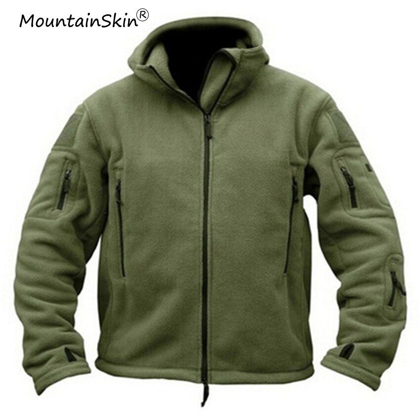 Mountainskin Men's Military Tactical Hooded Jackets Winter Fashion Fleece Warm Jaqueta Loose Casual Coat Male Outerwears LA632